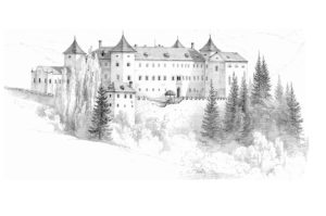 Pencil drawing by Pernhart Markus. Public domain image from Wikimedia Commons.