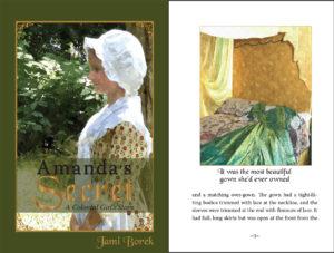 Photos to illustrations in Amanda's Secret by Jami Borek. Available on Amazon.